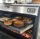Superior Grill of a Pira Charcoal Oven 120 Lux Inox, rices, seafood, potatos, meat, everithing tastes good in a PIRA Oven.