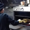 Grooved grills for delicate foods also with the PIRA 70 LUX charcoal ovens