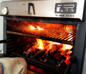 Pira 70 Lux oven. Spectacularity inside the kitchen.