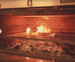 PIRA Charcoal ovens can be used to cook all kinds of food, meat, fish, vegetables, seafood ...