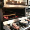 The elevator door adds comfort and maneuverability to the chef.