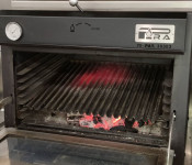 Pira 70 black Charcoal Oven with grooved grill