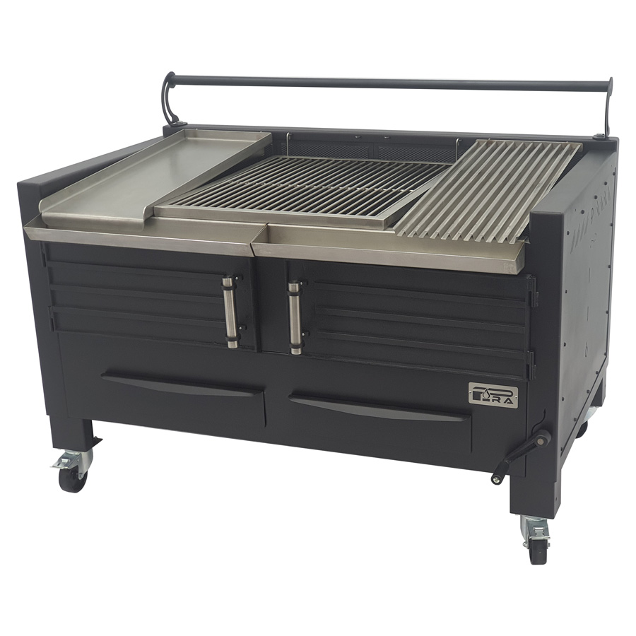 BBQ M150 Pira With Griddle plate, Full rod grill and grooved grill